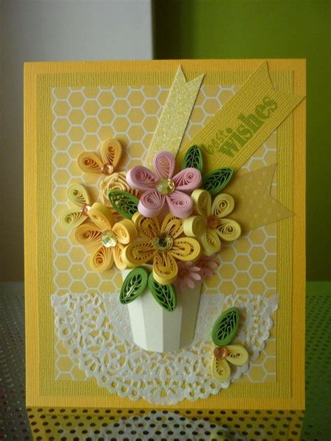 how to make paper birthday cards handmade yellow greeting paper quilling card quot best wishes