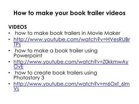 how to make a book how to make book trailers