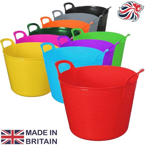rubber st storage containers 42 litre large flexi tub garden home rubber container