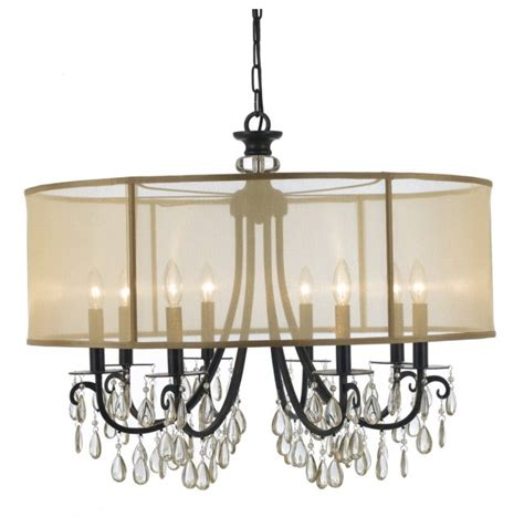 chandelier with shade and crystals chandelier with shade and crystals home design ideas