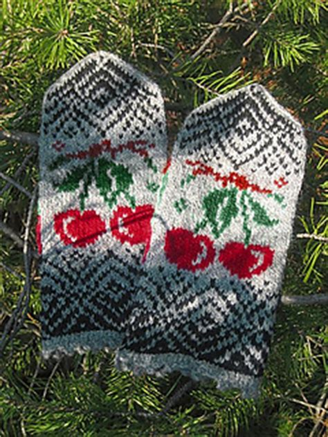 ravelry knitting sign in ravelry cherry mittens pattern by moreva