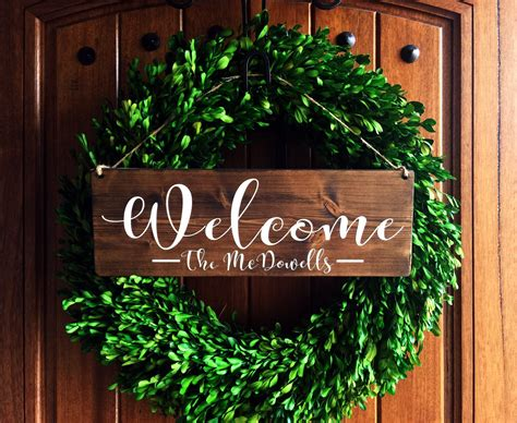 front door welcome signs welcome sign welcome door sign front door sign