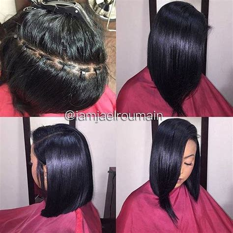 what hair is used for braidless sew in killing that braidless sew in game 4 pics black hair