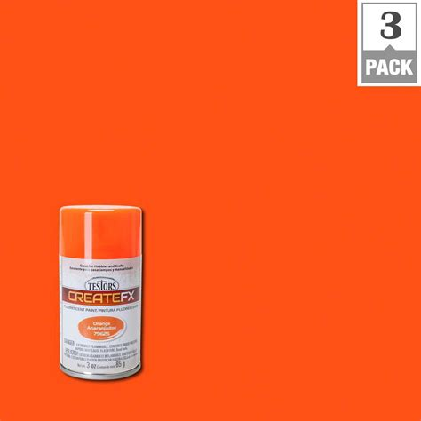 home depot neon paint testors createfx 3 oz fluorescent orange spray paint 3