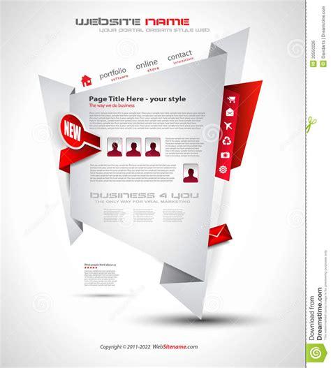 origami websites for origami website design for business royalty free