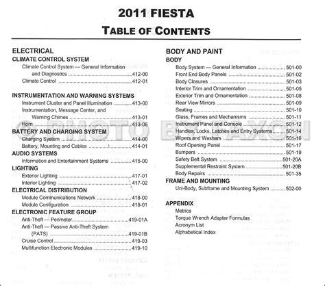 car service manuals pdf 2011 ford fiesta electronic throttle control 2011 ford fiesta repair shop manual original