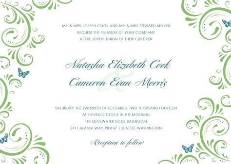 template for invitation beautiful wedding invitation templates ipunya