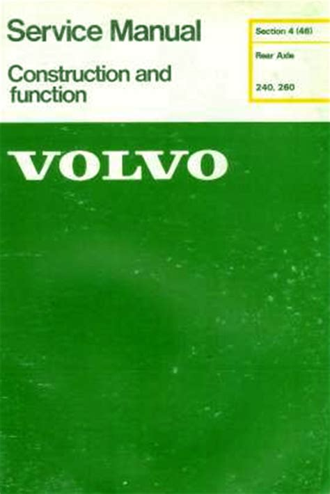 auto repair manual free download 1993 volvo 240 security system volvo 240 260 service manual