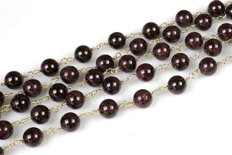 high quality rosary garnet rosary chain high quality 6mm 8mm 10mm by