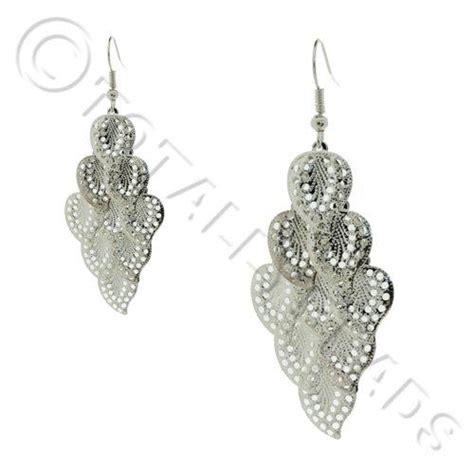 silver jewelry kits cascade earring kit silver filigree leaf craft hobby
