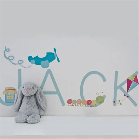 personalised wall stickers personalised name fabric wall stickers by littleprints