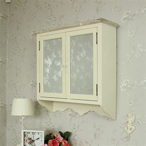 shabby chic bathroom cabinet with mirror wooden mirrored wall cabinet shabby vintage chic