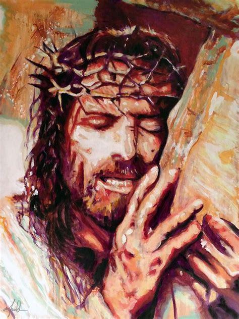 acrylic painting of jesus 25 best ideas about jesus cross on the cross