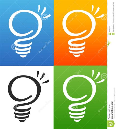 light company smart light bulb stock illustration image 40667145