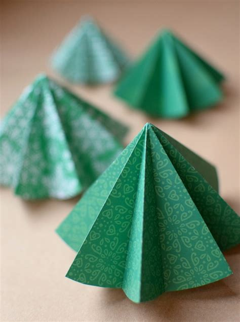 folded origami folded paper tree ornaments what can we do