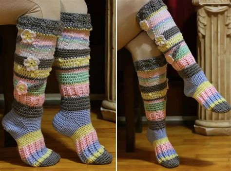 socks knitting pattern free crochet knee high socks free pattern tutorial