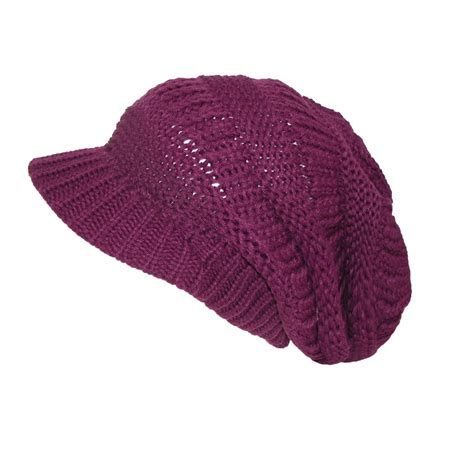slouchy knit beanie womens throwback chunky knit slouchy beanie hat by ctm