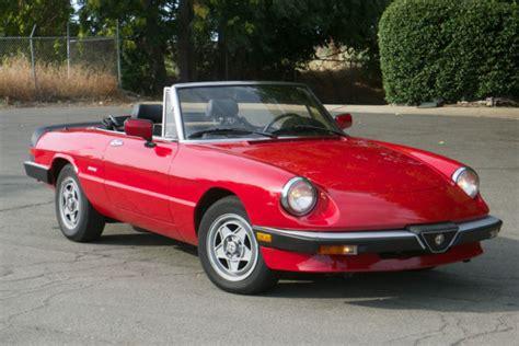 Alfa Romeo Graduate For Sale by 1988 Alfa Romeo Spider Graduate Convertible For Sale