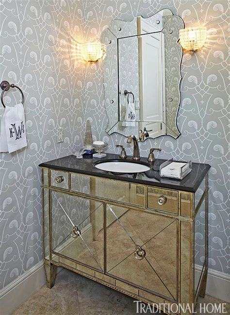 wallpaper for powder room create a smashing powder room traditional home