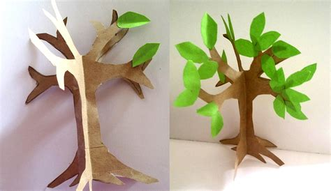 trees craft how to make an easy paper craft tree imagine forest