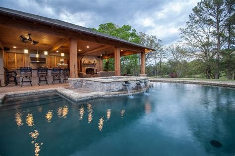 house plans with pools and outdoor kitchens rustic mississippi pool house landscaping network