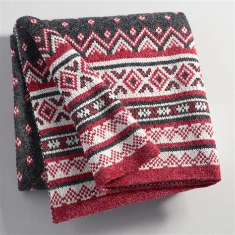 fair isle knit fair isle knit throw world market