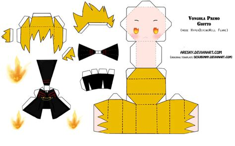 anime paper craft 3d paper crafts anime templates