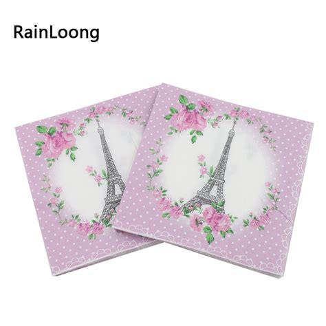 tissue decoupage rainloong 33cm 33cm eiffel tower paper napkins festive