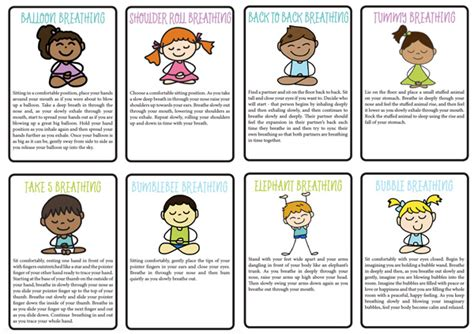 card techniques free 8 breathing exercises for home school printable