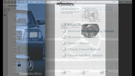 free service manuals online 2012 mercedes benz m class electronic valve timing mercedes benz model 126 service manual library youtube