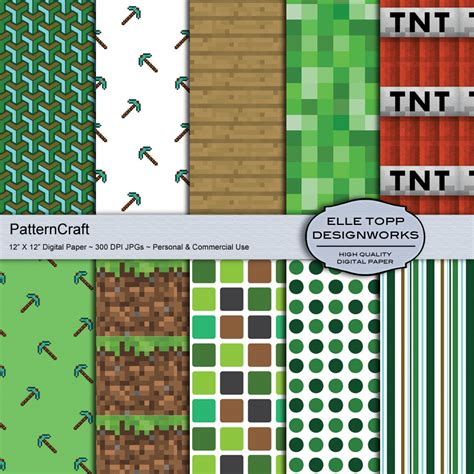 mine craft paper unavailable listing on etsy