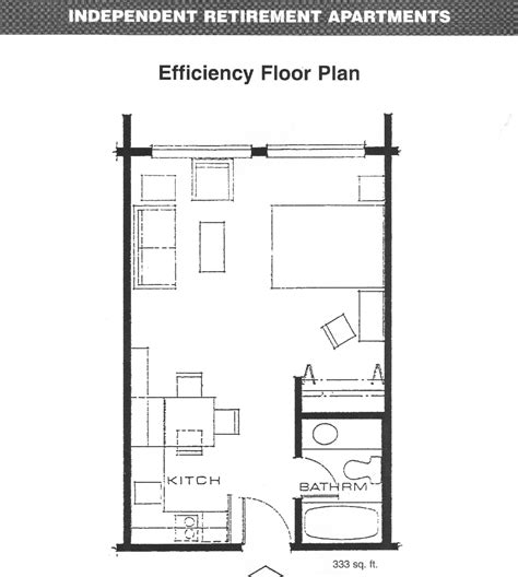 efficiency apartment floor plan efficiency apartment layout decobizz