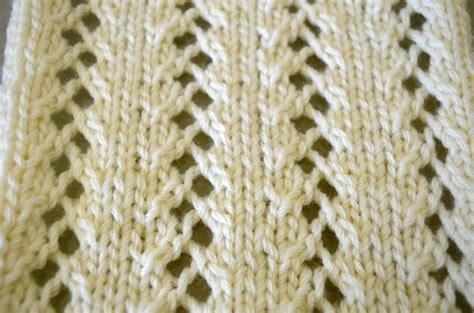 eyelet knit stitch garter stitch and eyelet lace cottontail design