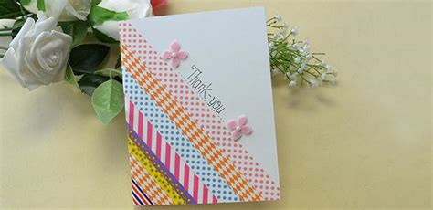 easy to make thank you cards washi thank you card family crafts