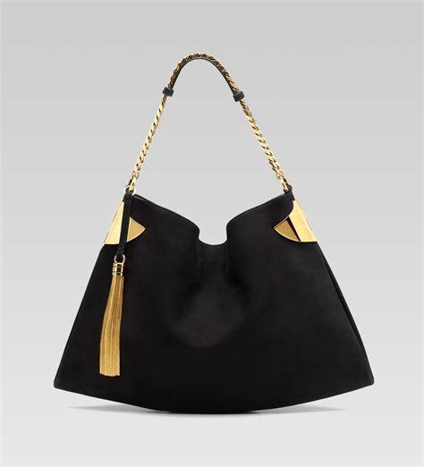 black leather the shoulder bag gucci black nubuck leather gucci 1970 shoulder bag all handbag fashion