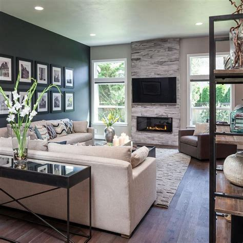 modern living room fireplace awesome modern living room is cozy family friendly by