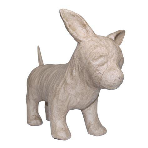 papier mache animals for decoupage decopatch sa150 decoupage papier mache animal chihuahua ebay