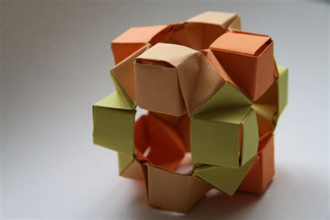 modular cube origami modular origami wierd cube by 177cm on deviantart