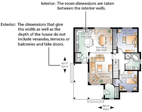 floor plans with measurements dimensions calculation