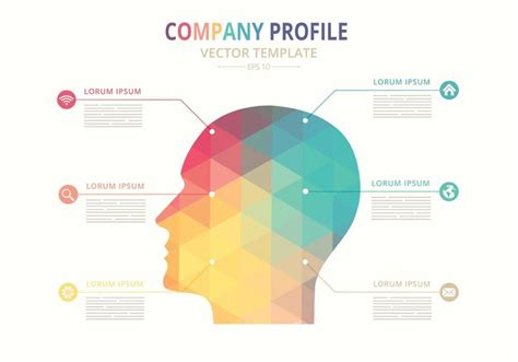 how to create company profile free vector company profile template free