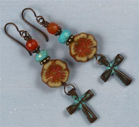 handmade beaded jewelry sale handmade boho cross earrings handmade jewelry