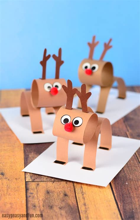 3d craft paper 3d construction paper reindeer easy peasy and