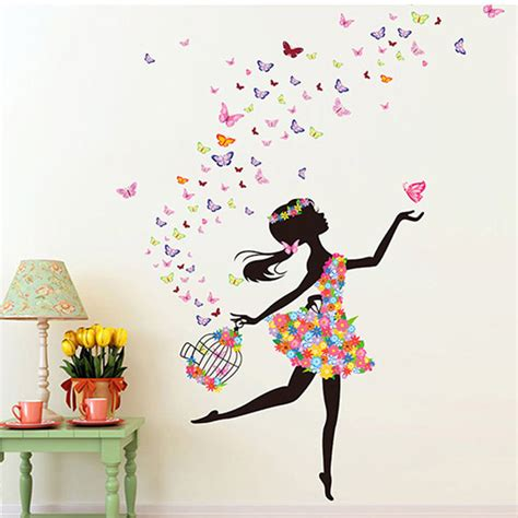 sticker decor for walls fashion modern diy decorative mural pvc butterfly