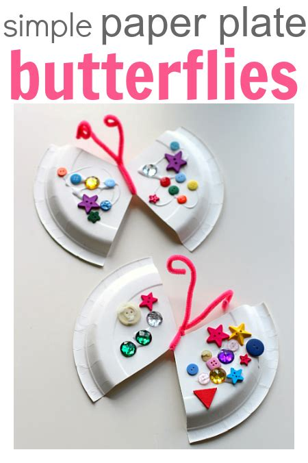 crafts with paper plates easy paper plate craft butterfly no time for flash cards