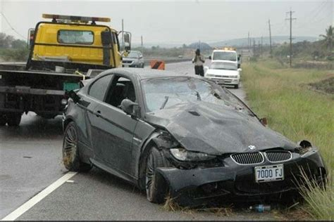 Usain Bolt Crash by Usain Bolt Crashes His Bmw M3 Again
