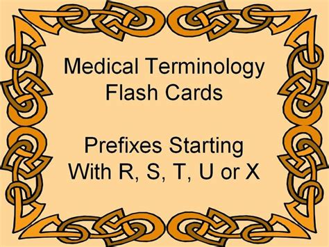 how to make terminology flash cards prefixes terminology flash cards healthcare