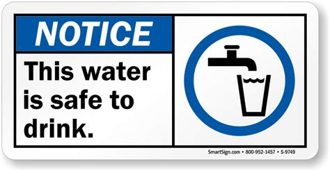 are water safe this water is safe to drink potable water notice sign