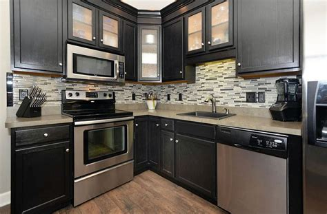 small kitchen black cabinets small kitchens with cabinets design ideas