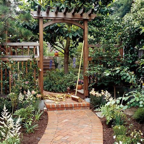 Garden Arbor With Gate Kit Build A Traditional Entry Arbor Gardens Outdoor Living
