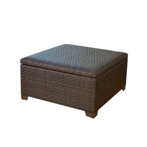outdoor storage ottoman bench indoor storage benches great price best wicker brown